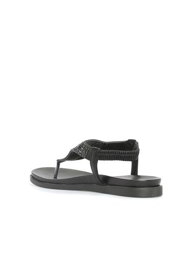 Divarese 5023059 Taşlı Kadın Sandalet Siyah